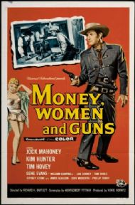Vintage Travel Poster, Money Woman and Guns